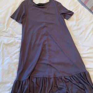 soft grey pocket dress